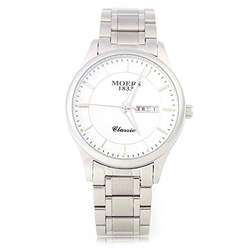 Leopard Shop Moers mj8010 Stecker Fashion Quarzuhr Nail Massstab phosphoreszierende Zeiger Display Armbanduhr Wasser Widerstand weiss