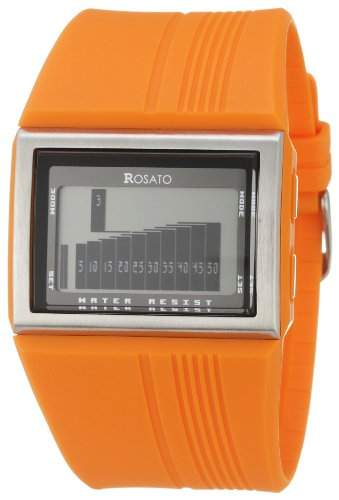 ROSATO LCD-HERRENARMBANDUHR MATRIX ORBIT ORANGE, R625