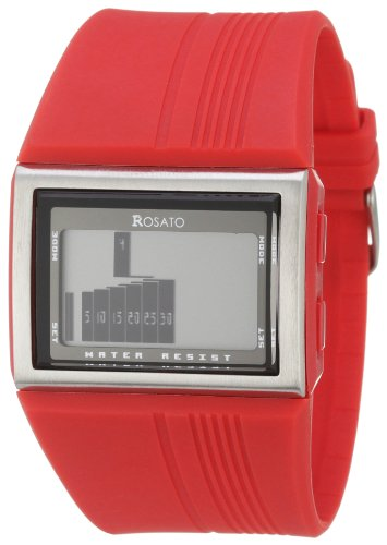 ROSATO LCD HERRENARMBANDUHR MATRIX ORBIT RED R632