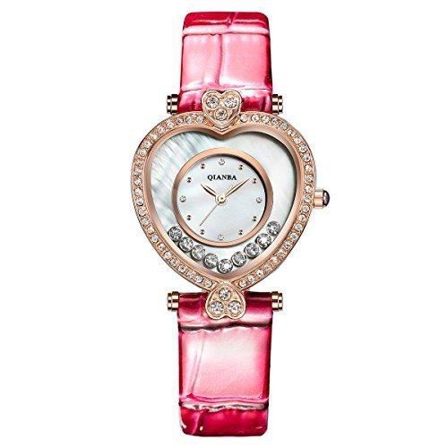 qianba q2601pk 2016 New Damen Pink Top Luxus Leder Trageriemen Hot Marke Casual Beruehmte Qualitaet Quarz weiblich wasserdicht beliebtes Fashion Armbanduhr Geschenk