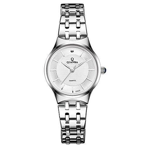 qianba Q8029 2 WH 2016 Top Damen Luxus Marke Uhr Quarz Wasserdicht Handgelenk Uhren Edelstahl Band Casual Fashion Business Kleid Uhren
