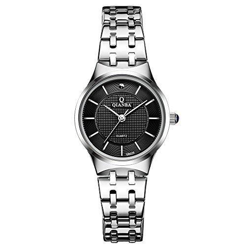 qianba Q8029 2BK 2016 Top Damen Luxus Marke Uhr Quarz Wasserdicht Handgelenk Uhren Edelstahl Band Casual Fashion Business Kleid Uhren