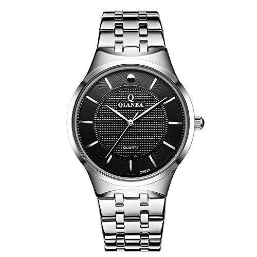 qianba q8029bk2 2016 Top Herren Luxus Marke Sport Wasserdicht Handgelenk Uhren Edelstahl Band Casual Fashion Business Kleid Uhren