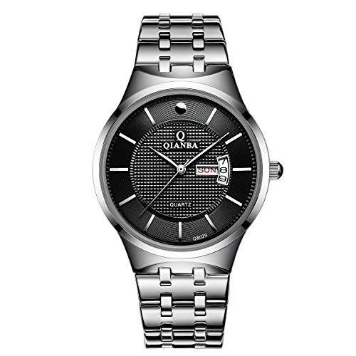 qianba q8029mbk 2016 Top Herren Luxus Marke Display Tag Datum Sport Quarz Armbanduhr Wasserdicht Handgelenk Uhren Edelstahl casual fashion Business Kleid Uhren