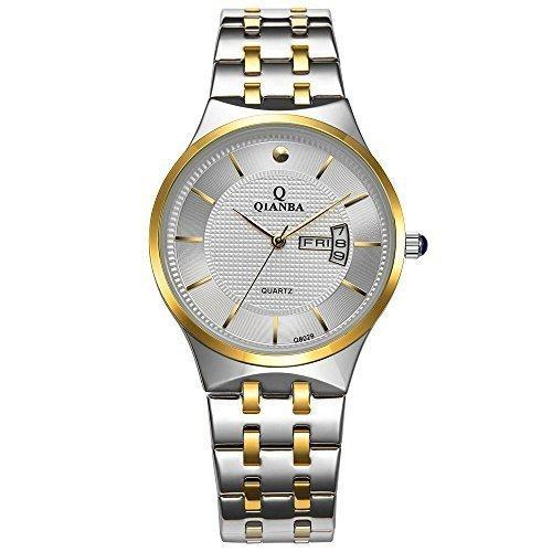 qianba q8029mwg 2016 Top Herren Luxus Marke Display Tag Datum Sport Wasserdicht Handgelenk Uhren Edelstahl casual fashion Business Kleid Uhren