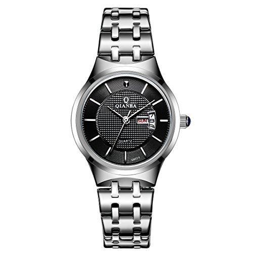 qianba q8029wbk 2016 Top Damen Luxus Marke Display Tag Datum Uhren Quarz Wasserdicht Handgelenk Uhren Edelstahl casual fashion Uhren