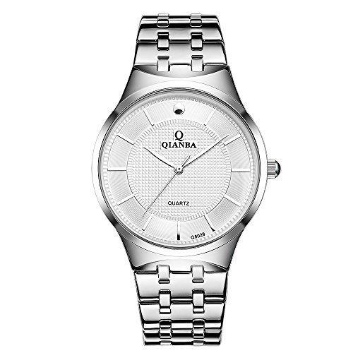 qianba q8029wh2 2016 Top Herren Luxus Marke Sport Wasserdicht Armbanduhr Edelstahl Band Casual Fashion Business Kleid Uhren