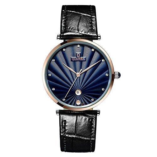 qianba q8051mbu 2016 Luxus Top Marke Quarz Herren Echtes Leder Gurt einfach Stil Business Kleid Wasserdicht Casual Fashion Armbanduhr