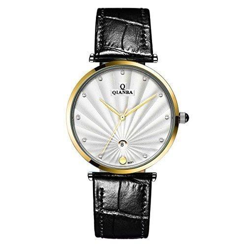 qianba q8051mgw 2016 Luxus Top Marke Quarz Herren Echtes Leder Gurt einfach Stil Business Kleid Wasserdicht Casual Fashion Armbanduhr