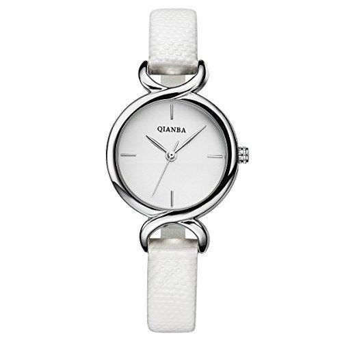 qianba q2603wh weiss Frauen Luxus Leder Trageriemen Hot Marke Casual Beruehmte Qualitaet Geschenk Quarz weiblich wasserdicht Einfache beliebtes Fashion Uhren
