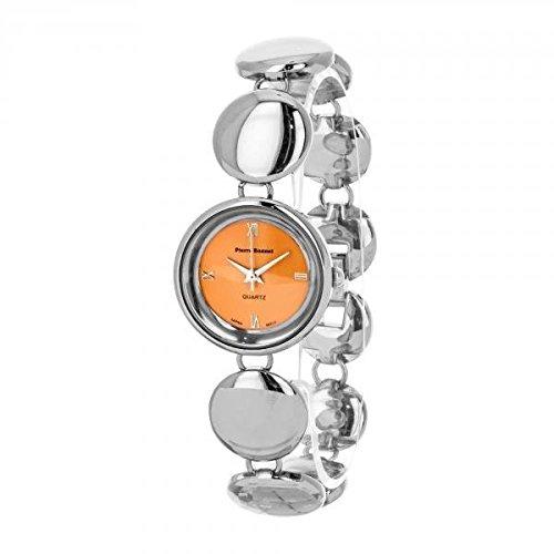 Pierre Bonnet Uhr Damen 9119 f Armband Armband Silver Orange Fashion