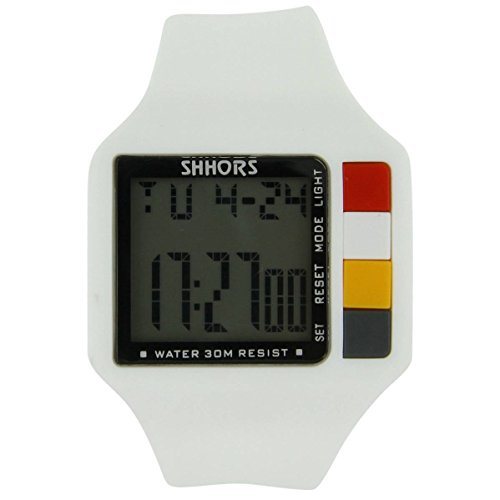 Armbanduhr Herren Chrono Sport Silikon Weiss 1686
