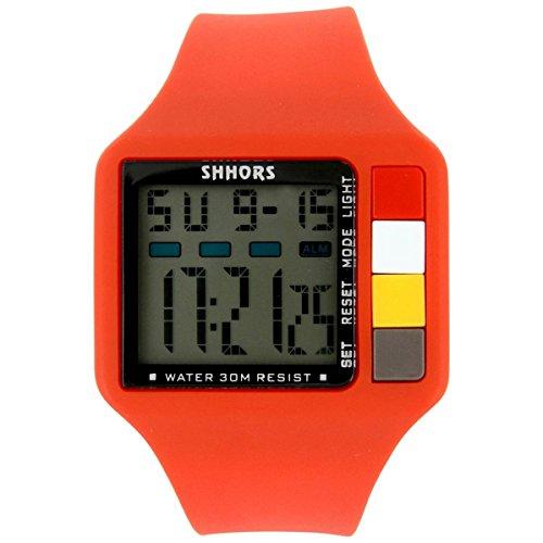 Armbanduhr SPORT Silikon Rot 1719