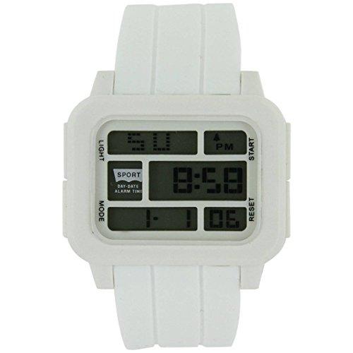 Armbanduhr SPORT Silikon Weiss 1495