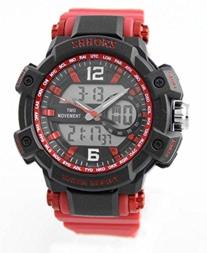 Armbanduhr SPORT X2 Anzeigen Silikon Rot 2297