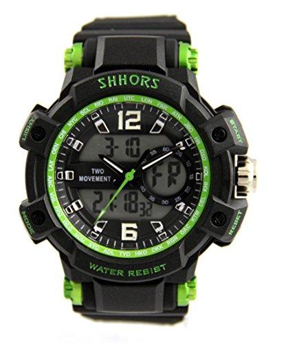 Armbanduhr SPORT X2 Displays und Silikon Schwarz 2253
