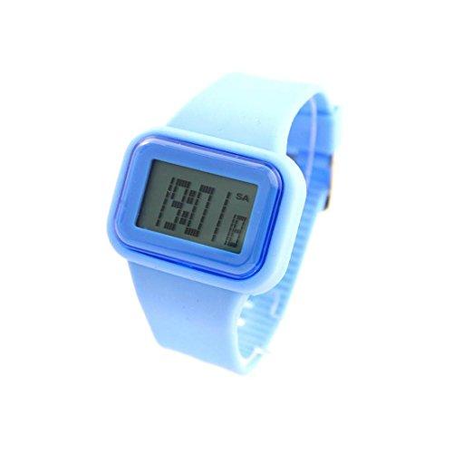 Herren Sport Armbanduhr Armband Silikon Blau 865