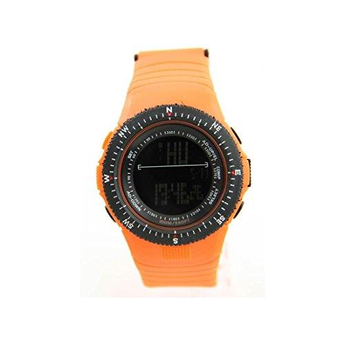 Herren Sport Armbanduhr Armband Silikon Orange 511