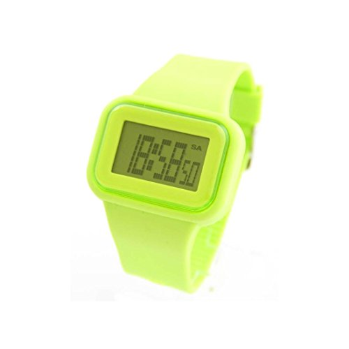 Herren Sport Armbanduhr Silikon gruen 619