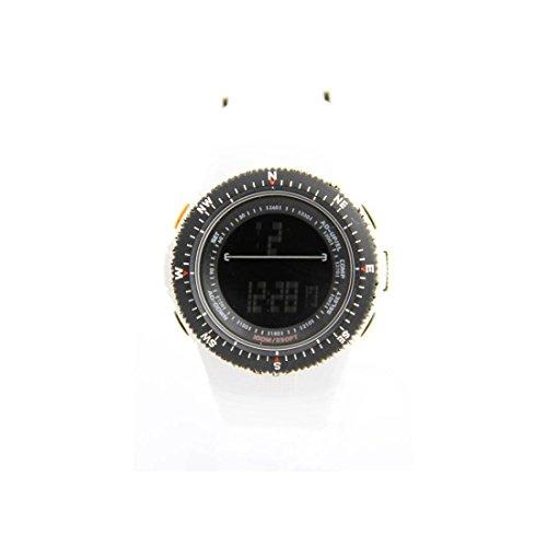 Herren Sport Armbanduhr mit Silikon Weiss 1344