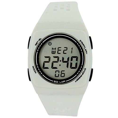 Montres Uhren Sport Homme Montre Homme Sport en Silikon Blanc 2728