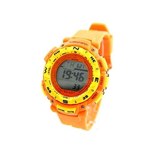 Zeigt Sport Chrono Herren Armband Silikon Orange 1149