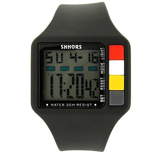 Uhren Sport Herren Armbanduhr Sport Silikon Schwarz 2399
