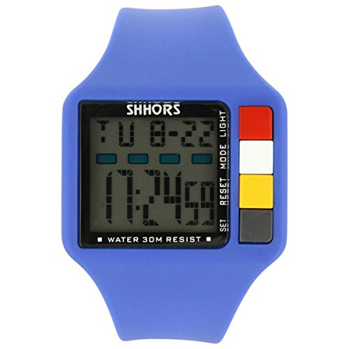 Uhren Sport Herren Herrenuhr Sport Silikon Blau 2398