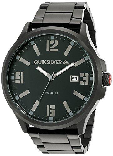 Quiksilver Herren Armbanduhr The Beulka Analog Edelstahl Schwarz QS 1002BKTI