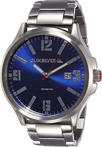 Quiksilver Herren Armbanduhr The Beulka Analog Edelstahl Silber QS 1002BLSV