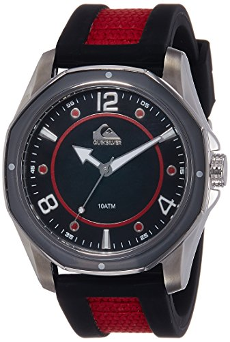 Quiksilver Herren Armbanduhr The Mariner Analog Silikon Rot QS 1014BKRD