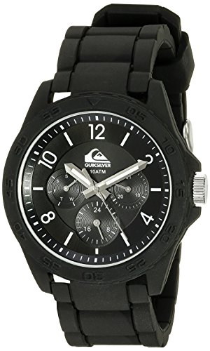 Quiksilver Herren Armbanduhr The Summit Analog Silikon Weiss QS 1016BKBK