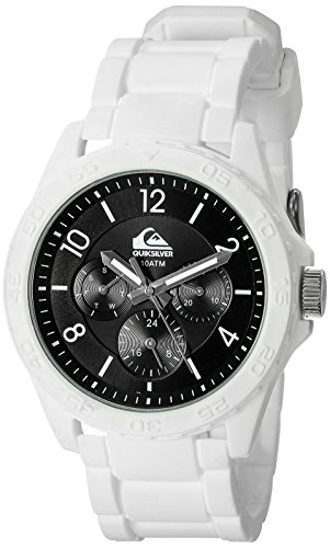 Quiksilver Herren Armbanduhr The Summit Analog Silikon Weiss QS 1016BKWT