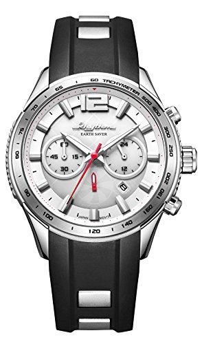 RHYTHM Solar Earth Saver Chrono Armbanduhr Schwarz Silber R ES1401R06
