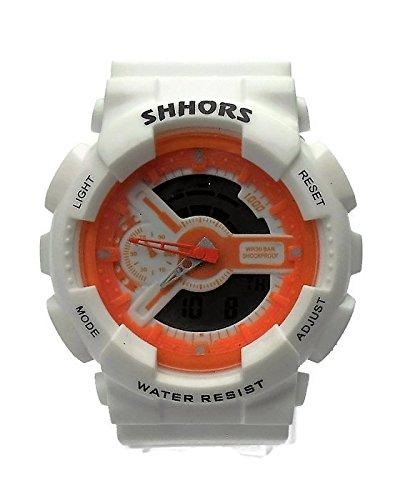 QBD digital analog Jungen Maedchen Studenten Sport mit Alarm Stoppuhr Chronograph 50 m Wasser Proof w orange