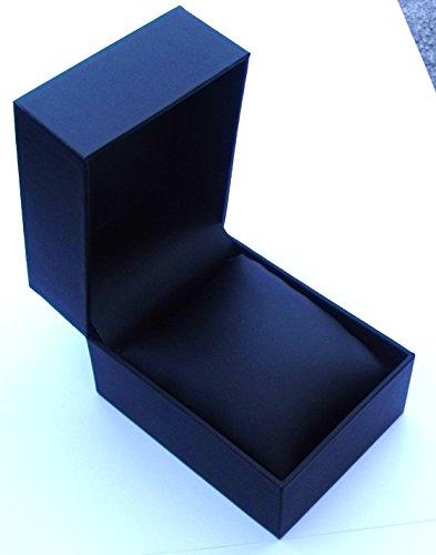 QBD Geschenkbox Uhren Etui Kunstleder mit Kissen Sprungscharnier Schwarz