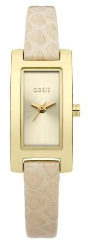 Oasis Damen-Armbanduhr Analog Edelstahl beschichtet beige B1277