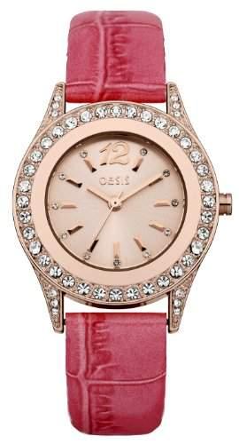 Oasis Damen-Armbanduhr Analog Kunststoff pink B1298