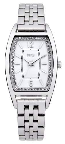 Oasis Damen Quarzuhr mit weissem Zifferblatt Analog-Anzeige und Silber Andere Armband b1351