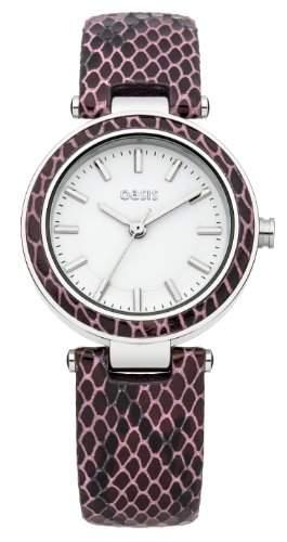 OASIS Damen-Armbanduhr Analog Leder Violett B1426