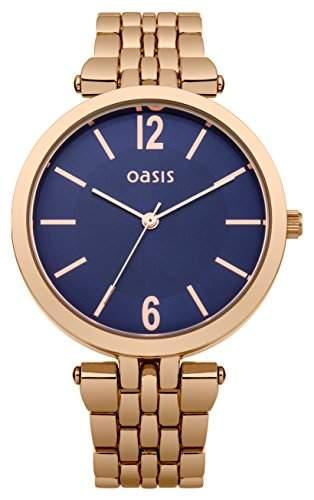 Oasis Damen-Armbanduhr Analog Quarz Edelstahl B1511
