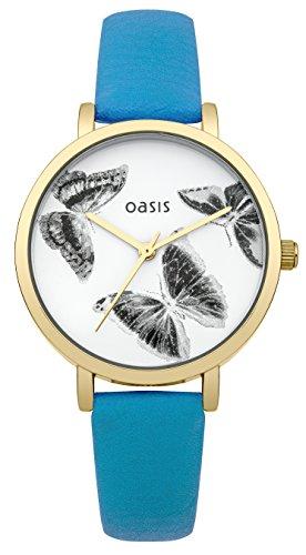 Oasis Damen Armbanduhr Analog Quarz Leder B1507