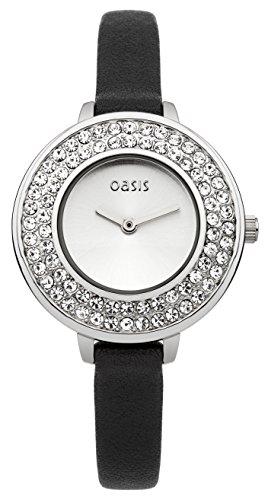 Oasis Damen Armbanduhr Analog Quarz Leder B1519