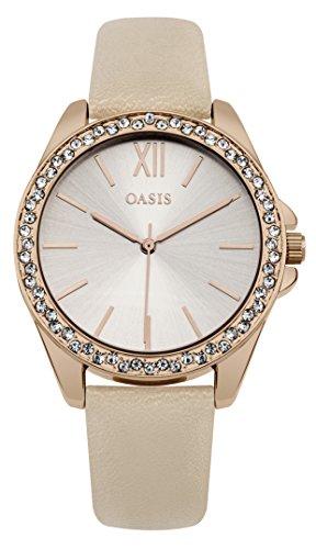 Oasis Damen sb006p Rose Gold Kristall Armbanduhr