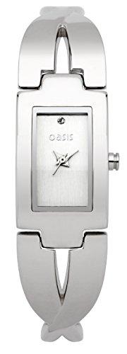 Oasis Damen b822 a Silber Zifferblatt Armbanduhr