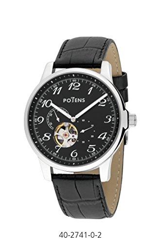 Automatische mechanische Uhr Gentleman Potens Gehaeuse Stahl Armband Leder