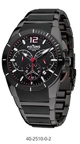 Herren Potens Uhr 40 2510 0 2 Stahl und Kautschuk Cronometro