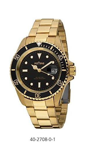 Herren Potens Uhr 40 2708 0 Stahl vergoldet