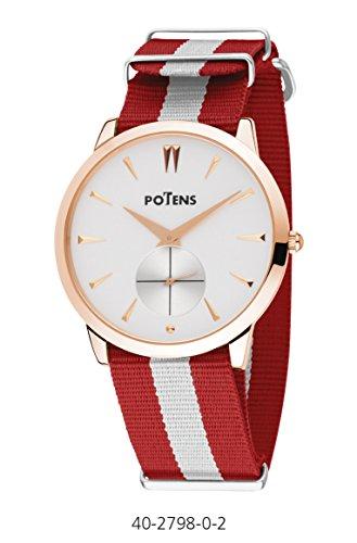 Uhr Cab vergoldet pink Nylon Armband