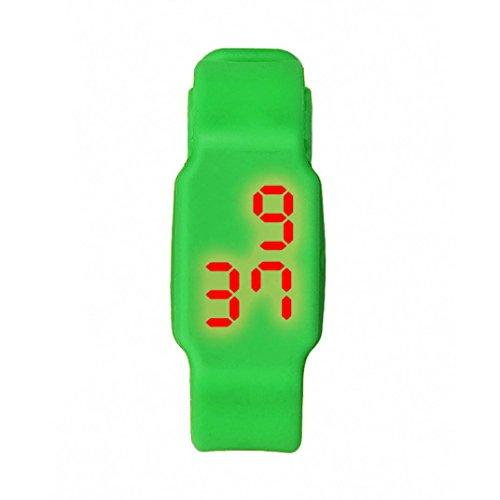 Oyedens Mode Silikon Digitale LED Sport Armbanduhr Gruen